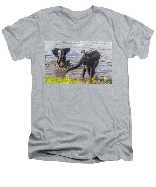 Leaving The River Men's V-Neck T-Shirt