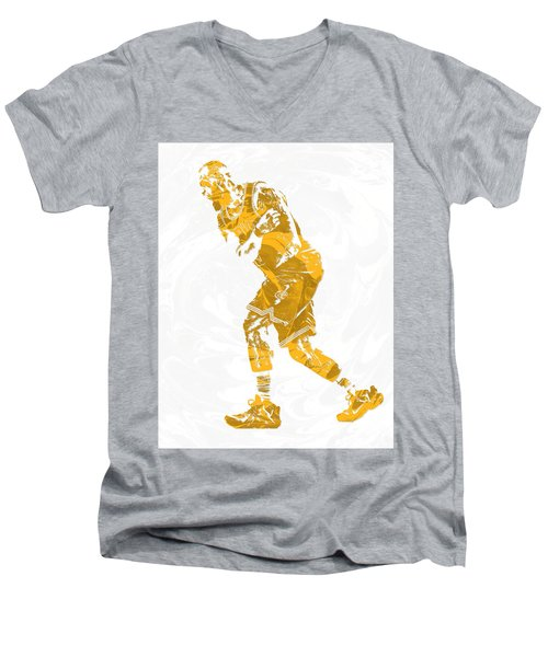 Lebron James Cleveland Cavaliers Pixel Art 13 Men's V-Neck T-Shirt