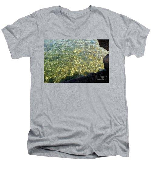 Ledge View Ripples Men's V-Neck T-Shirt by Sandra Updyke