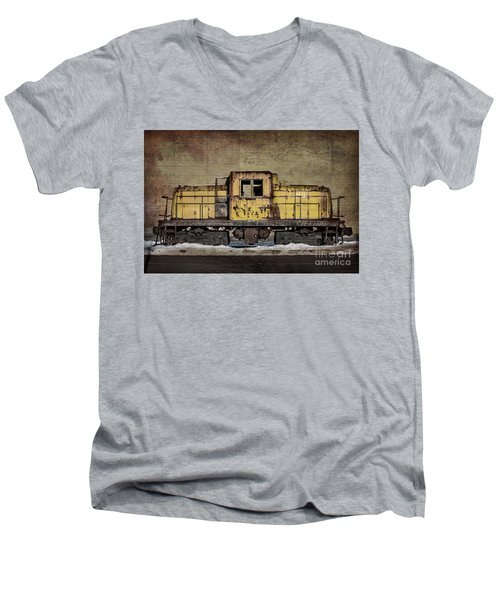 Left To Rust Men's V-Neck T-Shirt by Judy Wolinsky
