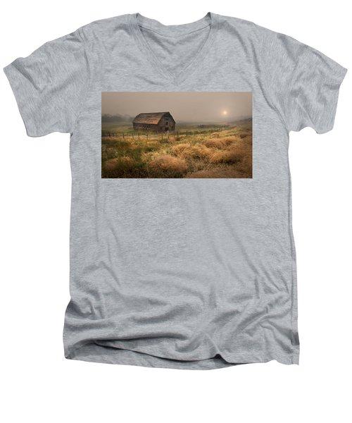 Legacy - Haynes Ranch Barn Men's V-Neck T-Shirt by John Poon