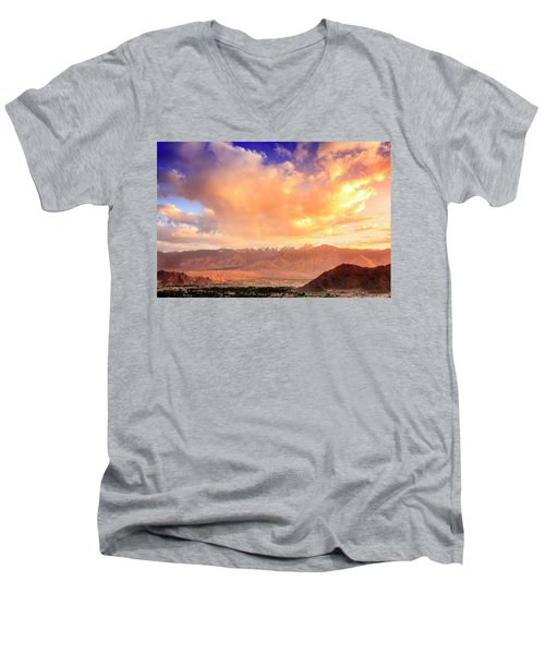 Men's V-Neck T-Shirt featuring the photograph Leh, Ladakh by Alexey Stiop