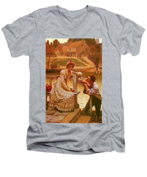 Leighton Edmund Blair Courtship Men's V-Neck T-Shirt