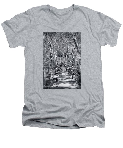 Men's V-Neck T-Shirt featuring the photograph Leisure Time by Sabine Edrissi