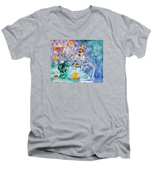 Lemon For Tea Men's V-Neck T-Shirt
