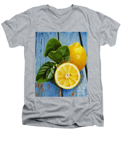 Lemon Fresh Men's V-Neck T-Shirt