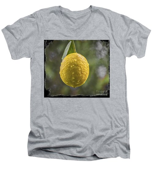 Men's V-Neck T-Shirt featuring the photograph Lemon Fresh by Mitch Shindelbower