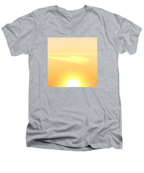 Lemon Meringue Sky Men's V-Neck T-Shirt by Patricia E Sundik
