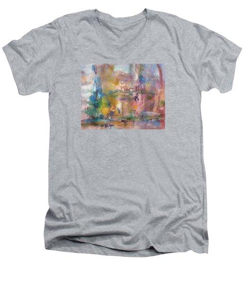 Lemonade From Lemons Men's V-Neck T-Shirt by Becky Chappell