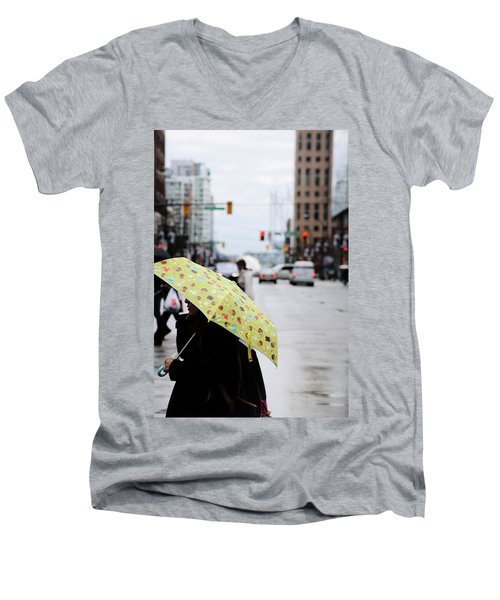 Lemons And Rubber Boots  Men's V-Neck T-Shirt by Empty Wall