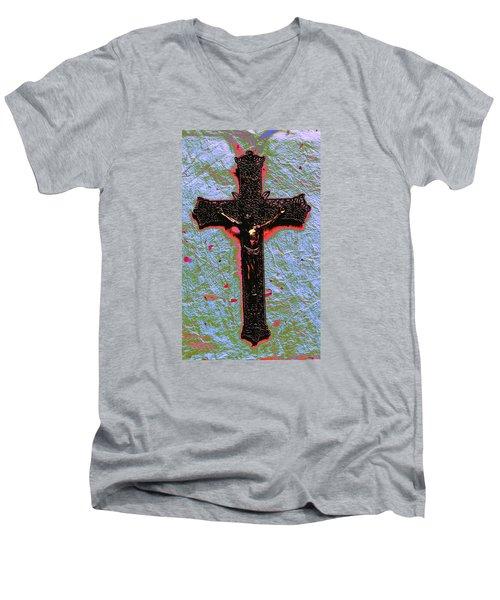 Lent Men's V-Neck T-Shirt by M Diane Bonaparte