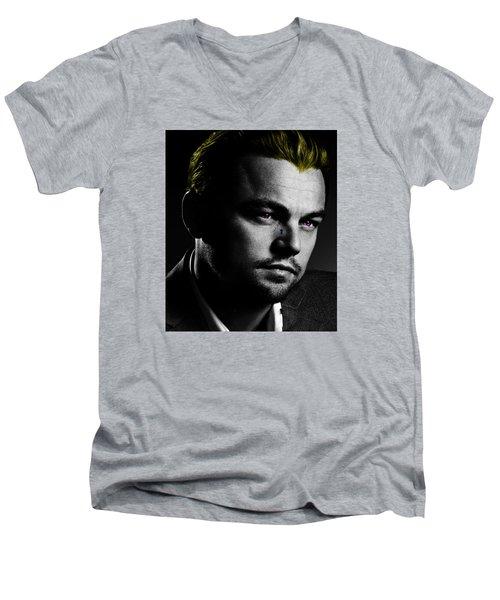 Leonardo Di Caprio Men's V-Neck T-Shirt by Emme Pons