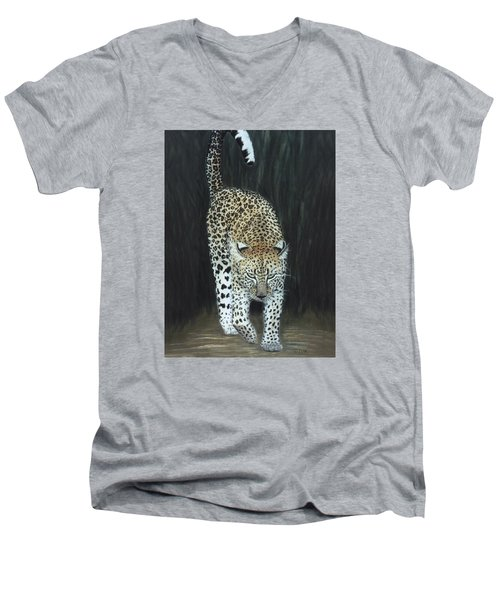 Leopard Men's V-Neck T-Shirt
