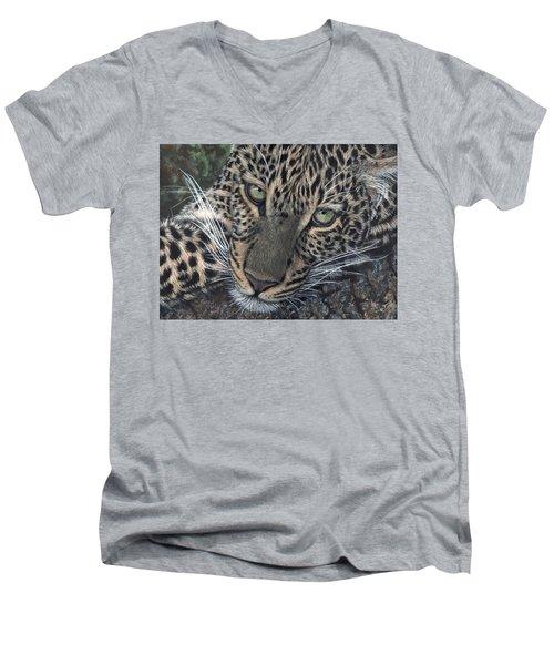 Leopard Portrait Men's V-Neck T-Shirt