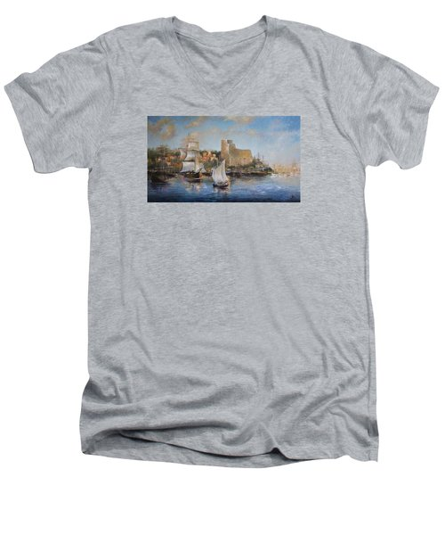 Lerici Men's V-Neck T-Shirt by Vali Irina Ciobanu