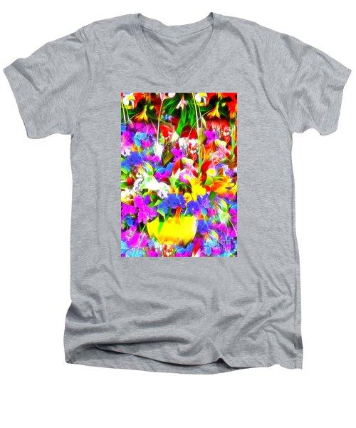 Les Jolies Fleurs Men's V-Neck T-Shirt by Jack Torcello