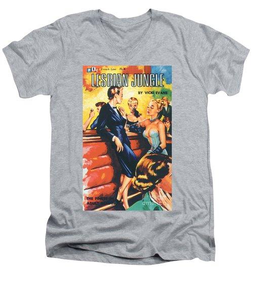 Lesbian Jungle Men's V-Neck T-Shirt