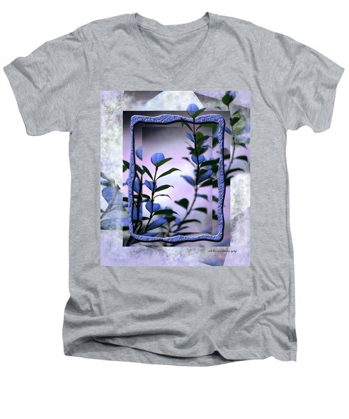 Men's V-Neck T-Shirt featuring the digital art Let Free The Pain by Vicki Ferrari