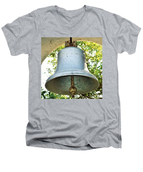 Men's V-Neck T-Shirt featuring the photograph Let Freedom Ring ...  by Ray Shrewsberry