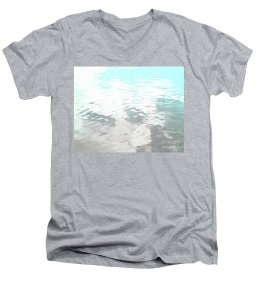 Men's V-Neck T-Shirt featuring the photograph Let It Flow by Rebecca Harman