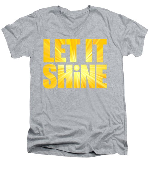 Let It Shine Sun Men's V-Neck T-Shirt