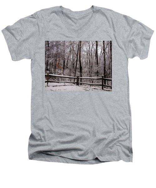 Let It Snow Men's V-Neck T-Shirt