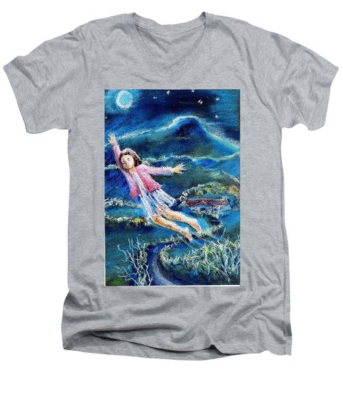 Let Me Play Among The Stars  Men's V-Neck T-Shirt