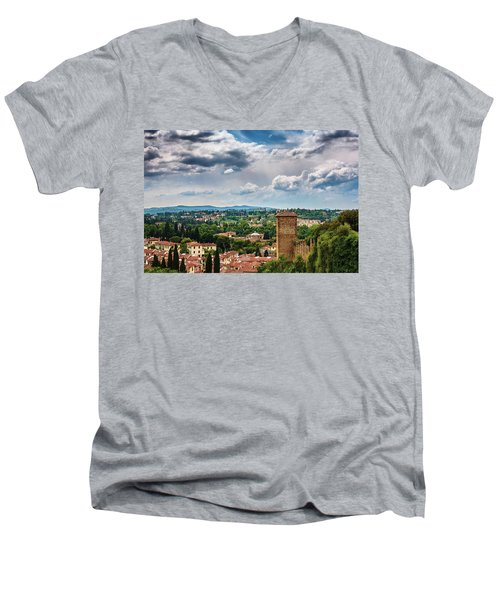 Let Me Travel To Another Era Men's V-Neck T-Shirt