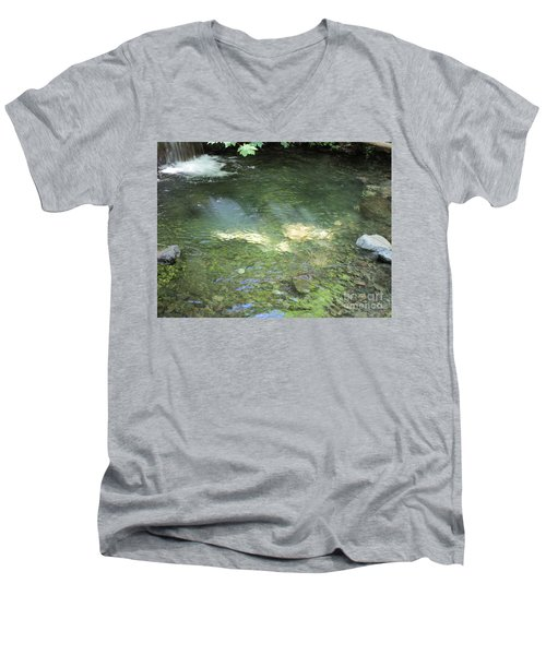 Men's V-Neck T-Shirt featuring the photograph Let The Sunshine by Marie Neder