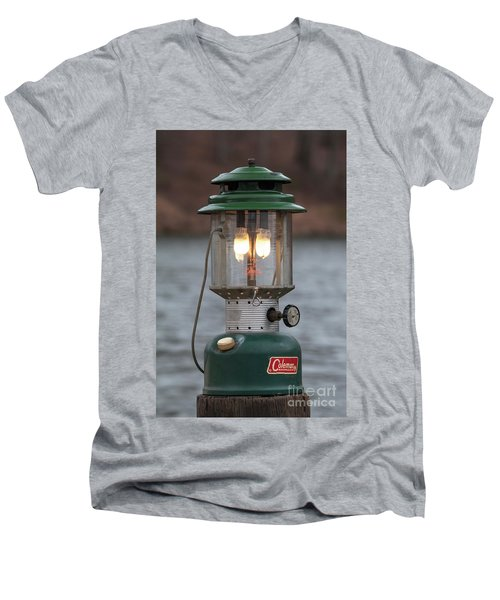 Men's V-Neck T-Shirt featuring the photograph Let There Be Light - D010029 by Daniel Dempster