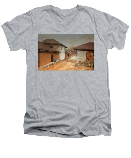 Let There Be Peace In Our Land Men's V-Neck T-Shirt by Bankole Abe