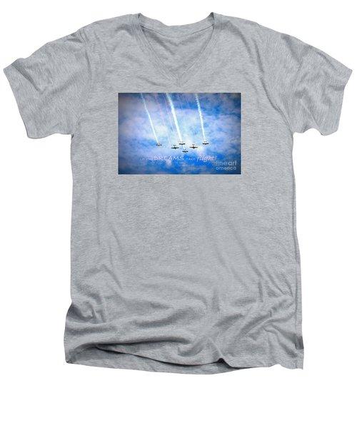 Let Your Dreams Take Flight Men's V-Neck T-Shirt by Shelia Kempf