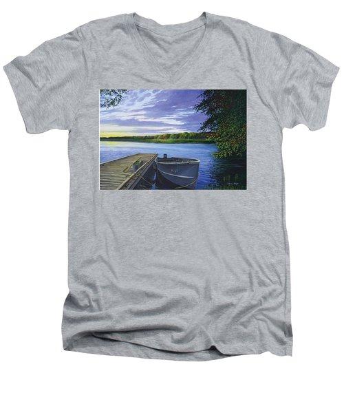Let's Go Fishing Men's V-Neck T-Shirt