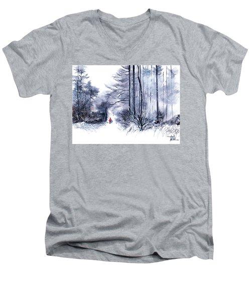 Let's Go For A Walk 2 Men's V-Neck T-Shirt