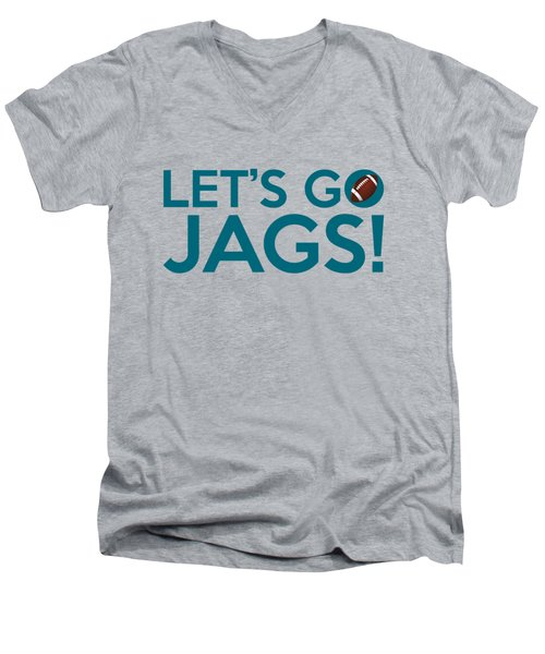 Let's Go Jags Men's V-Neck T-Shirt