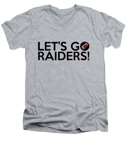 Let's Go Raiders Men's V-Neck T-Shirt