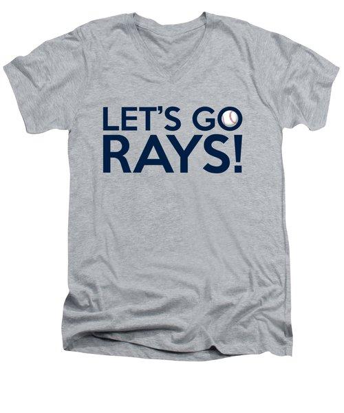 Let's Go Rays Men's V-Neck T-Shirt