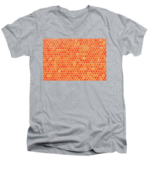 Let's Polka Dot Men's V-Neck T-Shirt