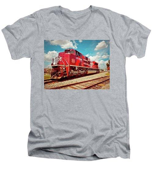 Let's Ride The Katy Men's V-Neck T-Shirt by Linda Unger