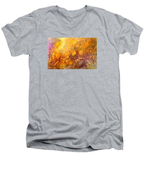 Letting The Sunshine In Men's V-Neck T-Shirt by Valerie Travers