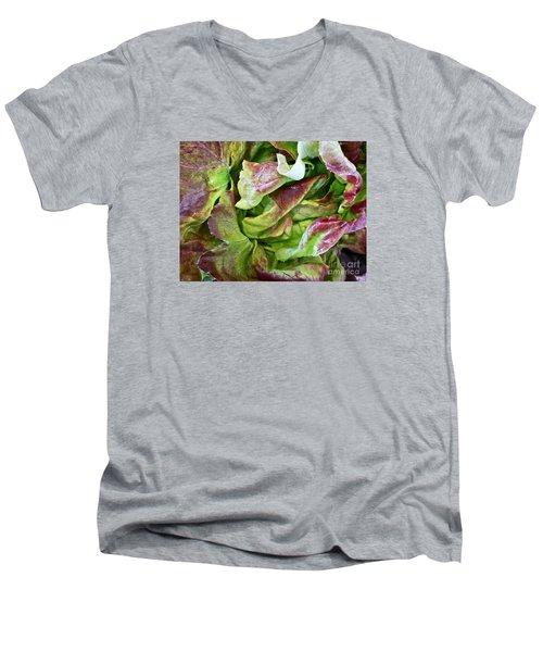 Lettuce Heart Men's V-Neck T-Shirt by Dee Flouton