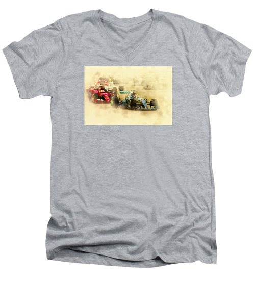 Lewis Hamilton Leads Again Men's V-Neck T-Shirt