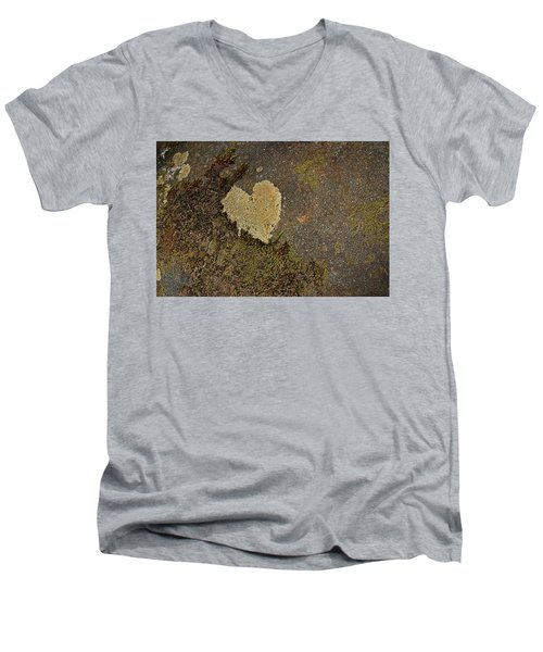 Men's V-Neck T-Shirt featuring the photograph Lichen Love by Mike Eingle