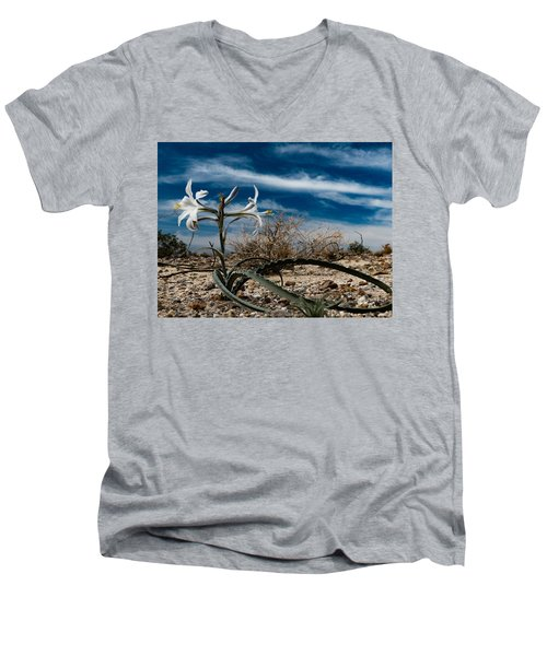 Life Amoung The Weeds Men's V-Neck T-Shirt by Jeremy McKay
