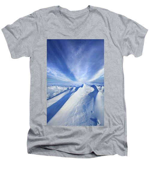Men's V-Neck T-Shirt featuring the photograph Life Below Zero by Phil Koch