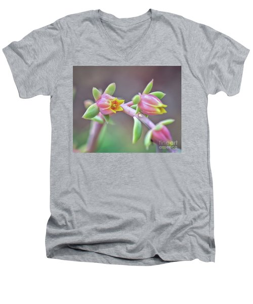 Men's V-Neck T-Shirt featuring the photograph Life Delights In Life by Kerri Farley