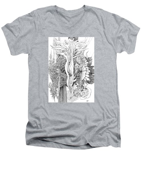 Life Force Men's V-Neck T-Shirt by Charles Cater