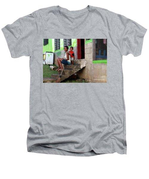 Life In Nagara Fiji Men's V-Neck T-Shirt