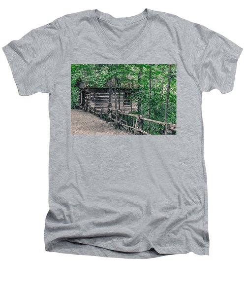 Men's V-Neck T-Shirt featuring the photograph Life In The Ozarks by Annette Hugen