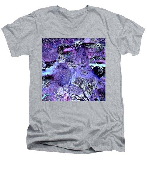 Life In The Ultra Violet Bush Of Ghosts  Men's V-Neck T-Shirt